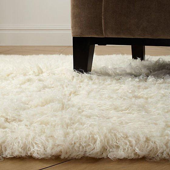 White wool cosy Floakti Rug from John lewis