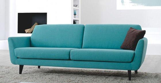 Turquoise retro small sofa