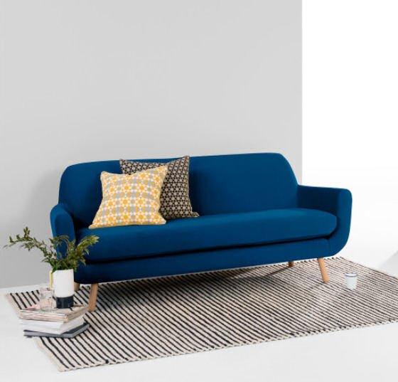 Jonah Blue Velvet Sofas from MADE