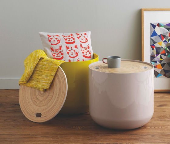 Habitat Blyth round side tables with storage for small spaces