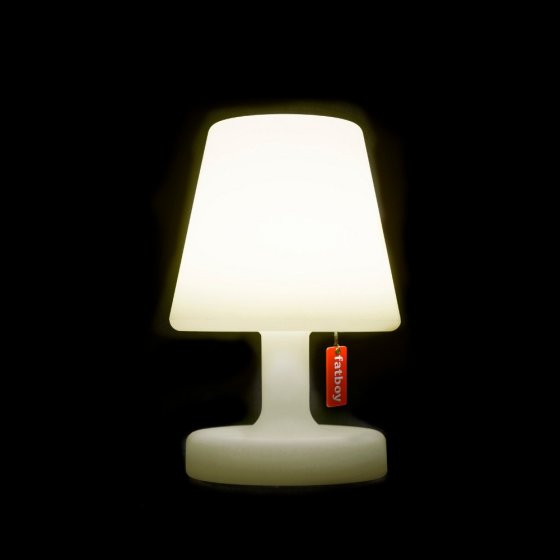 Outdoor lighting ideas: Fatboy Edison-le-Petit outdoor lamp on black background