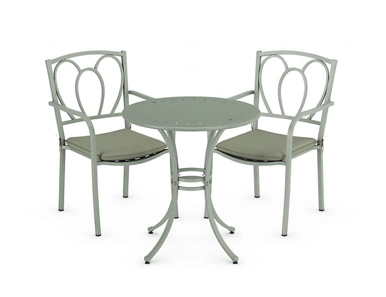 Stroud metal bistro table and chairs set Marks and Spencer