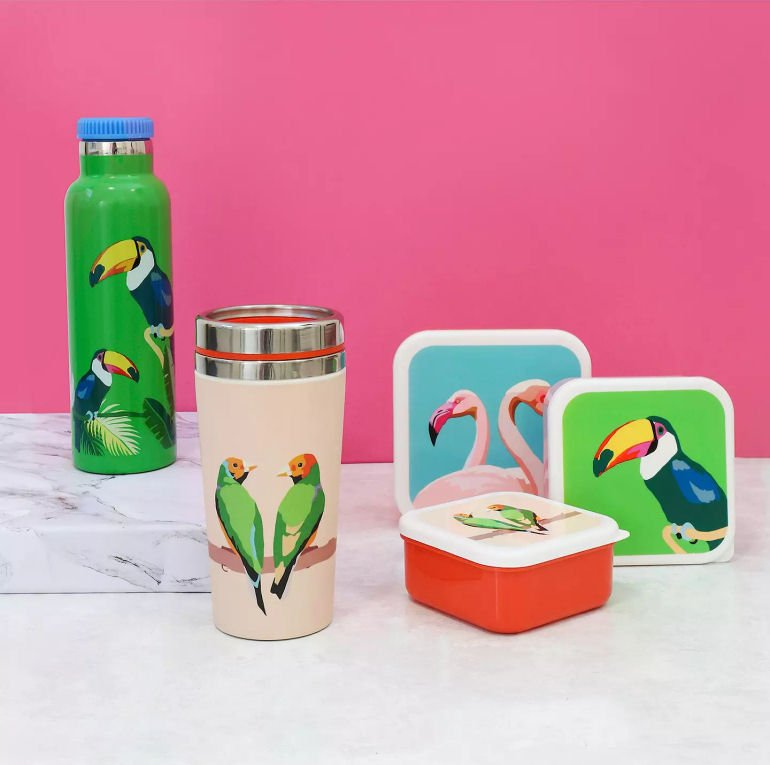 Emily Brooks colourful nested storage boxes for picnics and leftovers