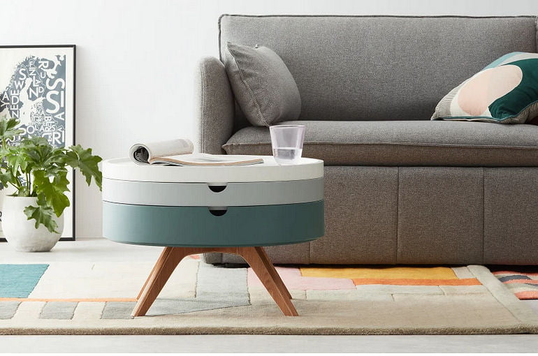 round coffee table with storage for small spaces
