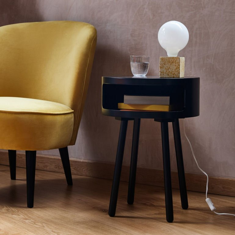 Habitat Bumble Side Table with storage for small spaces