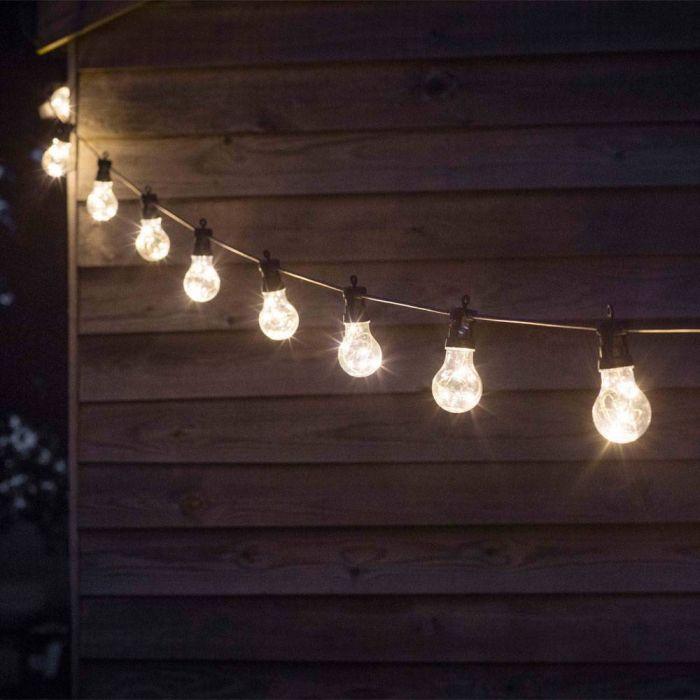 Outdoor lights cafe style festoon lights