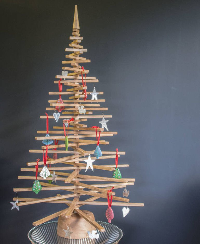 Oak Alternative Christmas Tree for small spaces