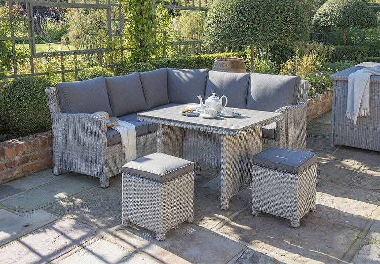 John Lewis & Partners Outdoor Dining Set from Kettler Corner Sofa and Table Set