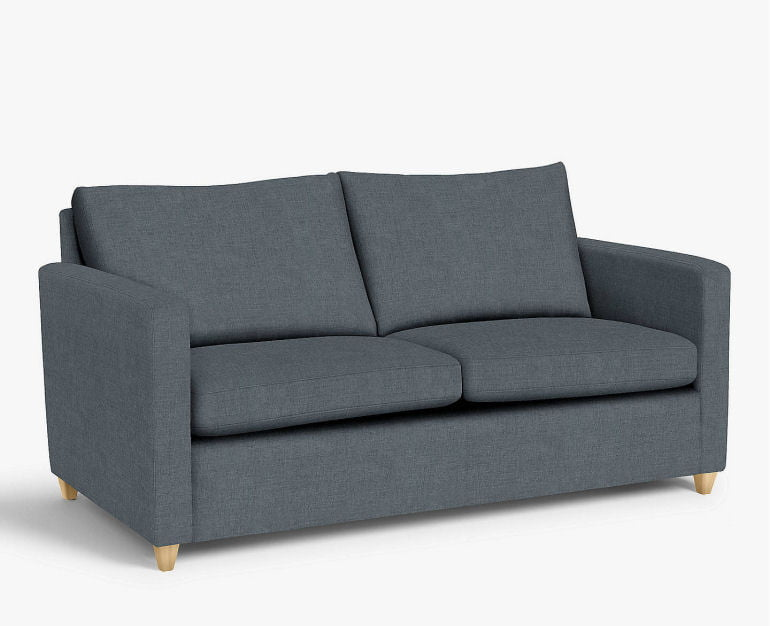 Small 2-seater grey sofa bed for small spaces