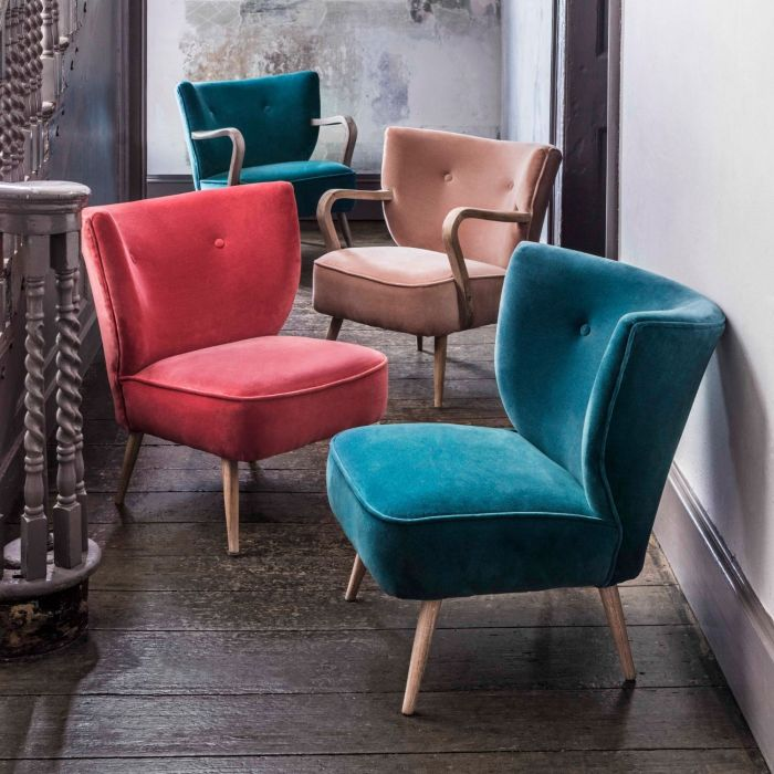 Alpana velvet cocktail chairs from Graham and Green