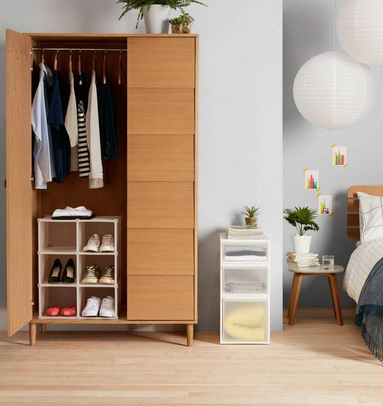 John Lewis stackable plastic storage drawers