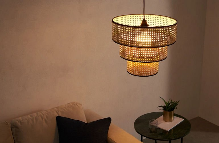 Woven cane lampshade Sagres by MADE