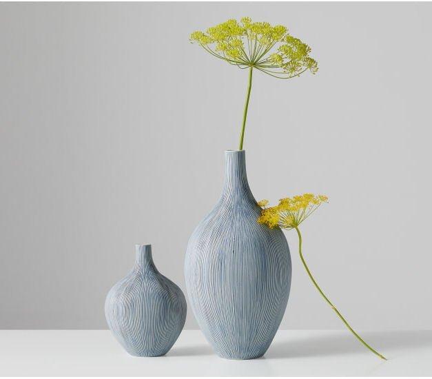 Mar Extra Large Bottle Vase in light blue by MADE