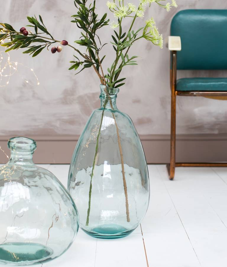 Large glass bottle vase from The Forest and Co
