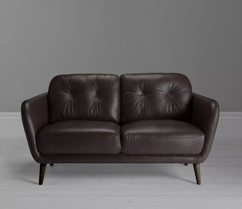 Arlo small leather sofa for small rooms