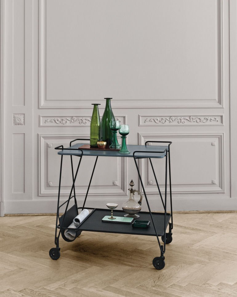 Gubi Mategot Drinks Trolley contemporary bar cart