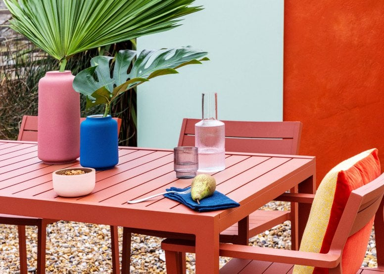 Heal's Eos Outdoor Dining Furniture in rust