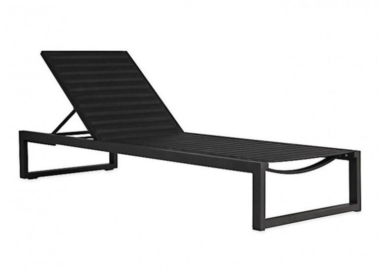 Heal's Eos sunlounger by Case in black