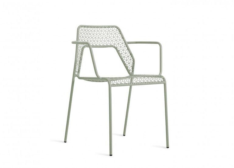 Blu Dot Hot Mesh Outdoor Armchair in grey