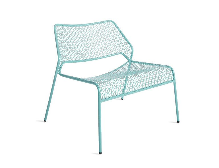 Blu Dot Hot Mesh Outdoor Lounge Chair in Aqua