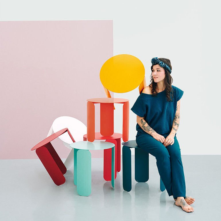 Fermob Bebop Colourful Outdoor Side Tables