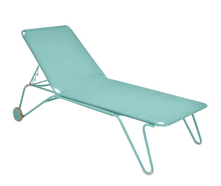 Fermob Harry Blue Sunlounger with wheels