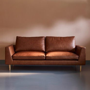 Jake contemporary leather sofa in brown by Love Your Home