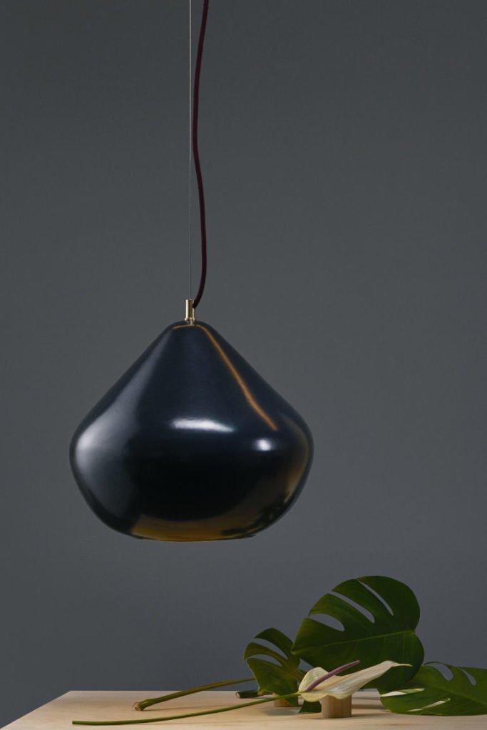 Chroma pendant light in black by Hand & Eye Studio