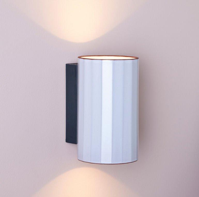 Gooseberry white-glazed wall light up and down lighter