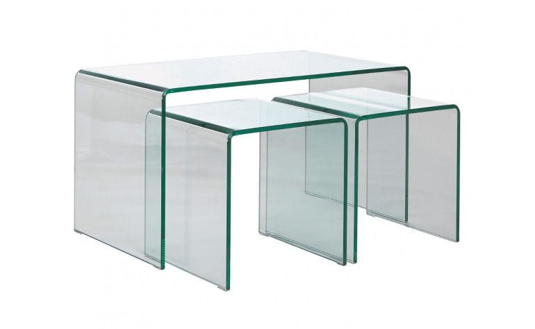 Habitat Gala glass nesting tables