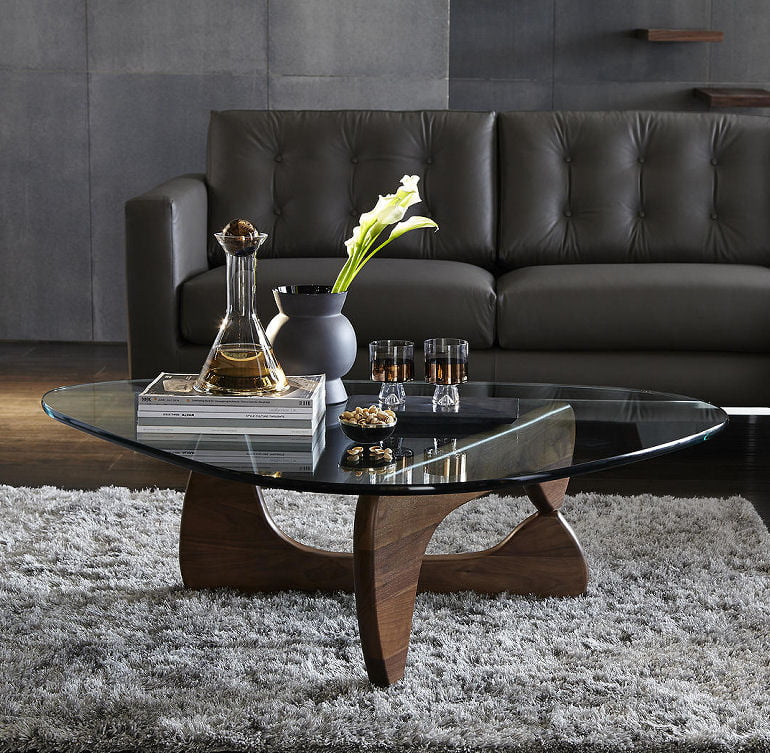Design icon - Noguchi coffee table with glass top