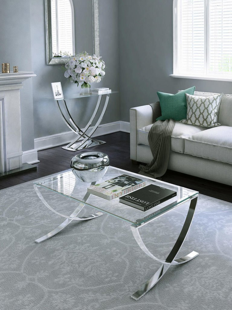John Lewis & Partners glass Vienna coffee table for small spaces