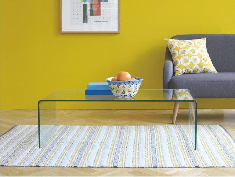 Habitat minimalist Gala glass coffee table