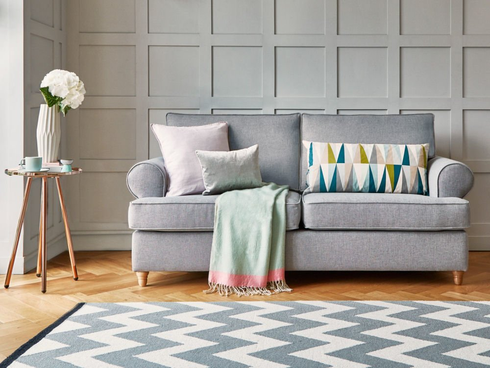 Buttermere grey fabric sofa bed - Willow and Hall