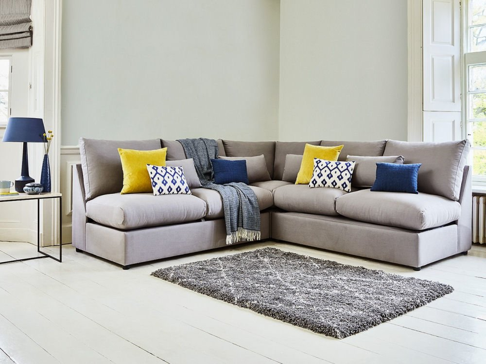 modular storage grey fabric sofa bed