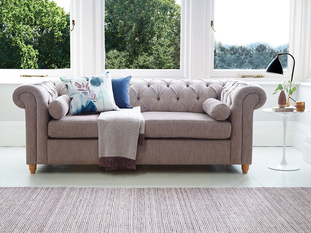 contemporary chesterfield 2-seater sofa bed