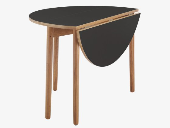 Habitat suki black folding dining table for Foldable dining table for small space