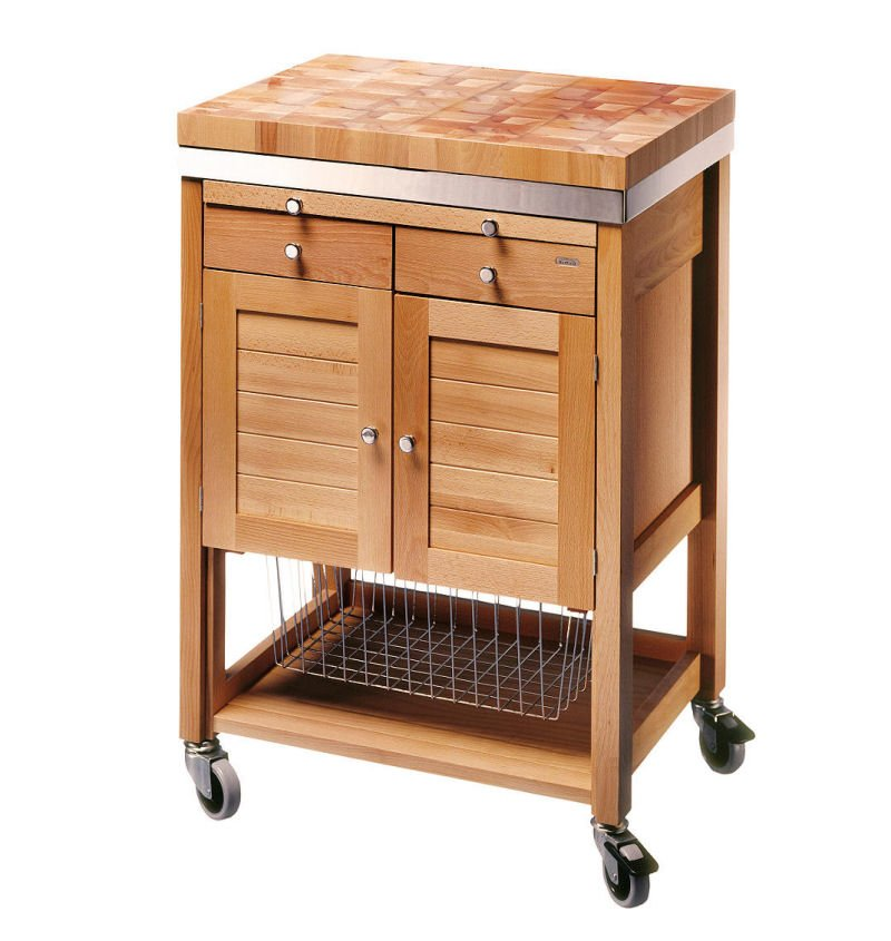 Eddingtons Pewsey Butchers Trolley on wheels for small spaces