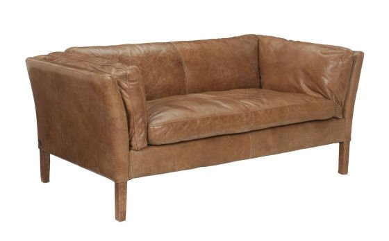 Halo Groucho Small Aniline Leather Sofa for small spaces