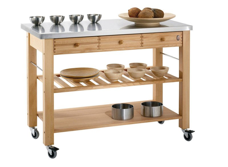 Lambourn butchers block on wheels for small kitchens from John Lewis & Partners