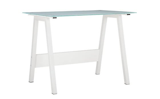 John Lewis James Desk in metal and toughened glass top