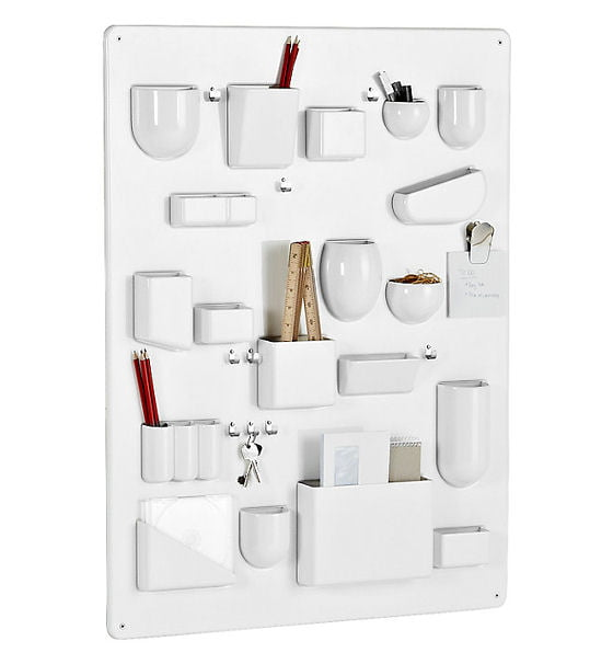 Vitra Uten.Silo Storage System in white, versatile wall hung storage solution for small spaces