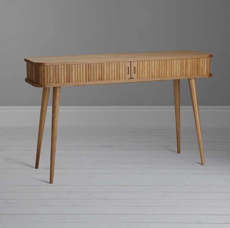 John Lewis & Partners Grayson Storage Console Table in natural wood