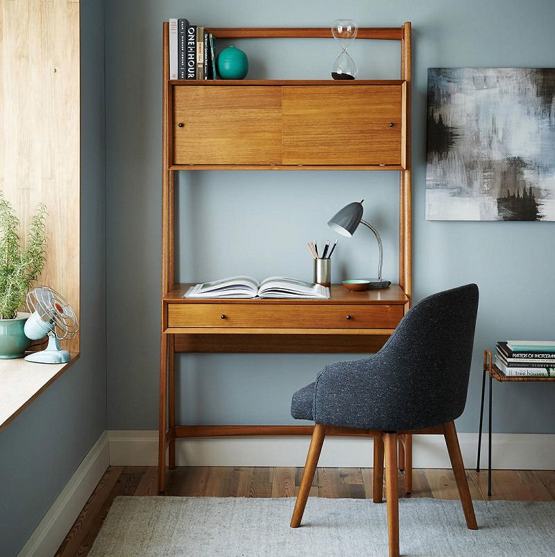 West Elm Md Centruy Wall Desk for small spaces