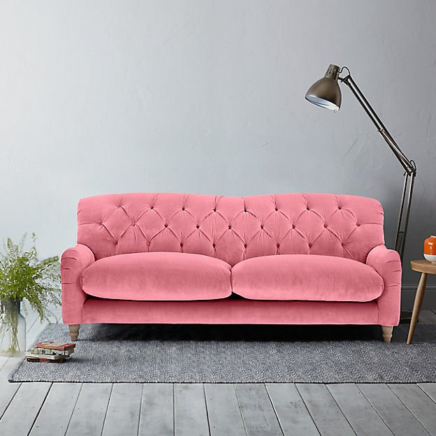 Loaf Crumble 2-seater contemporary velvet sofa