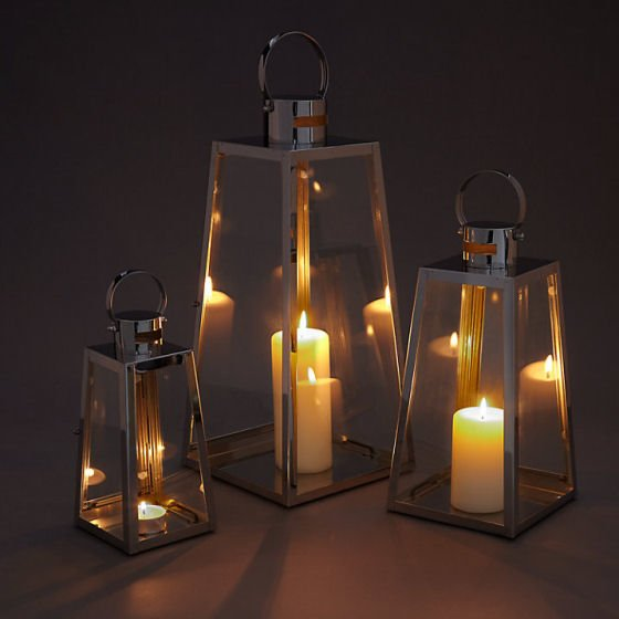 John Lewis Pimlico metal lantern candle holders