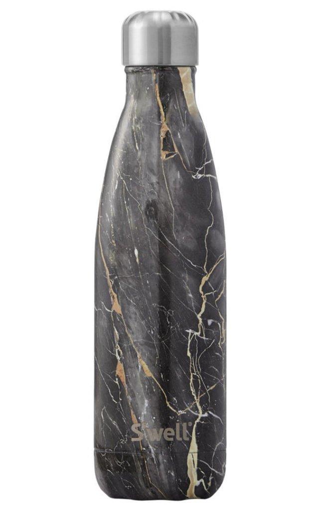 John Lewis S'well Drinking Bottle in black marble