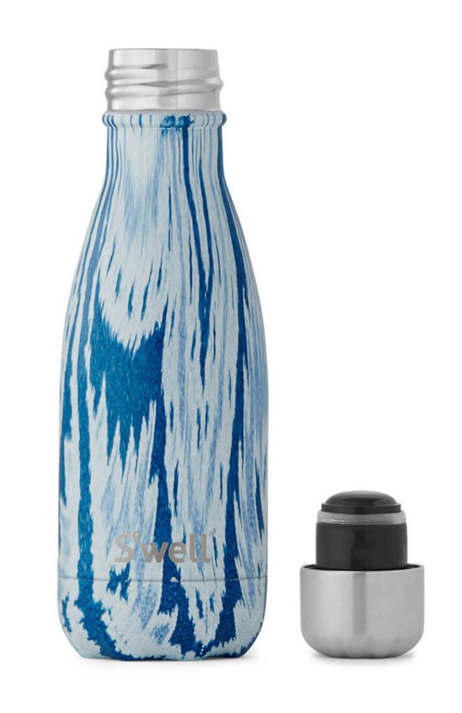 S'well Drinking Bottle with blue ikat design