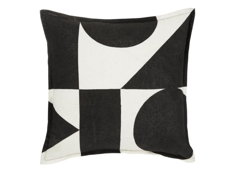Black and white geometric linen cushion cover by Patternity/John Lewis