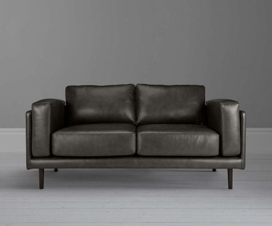 John Lewis Leather Sofa Design Project No. 002 in Winchester Grey